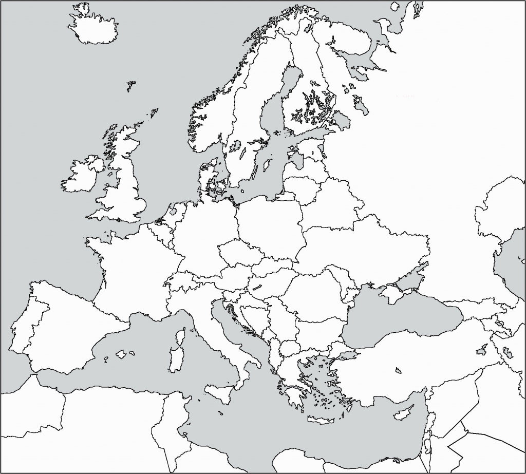 Western Europe Map Outline Best Of Blank Printable Simple Asia - Blank Political Map Of Europe Printable