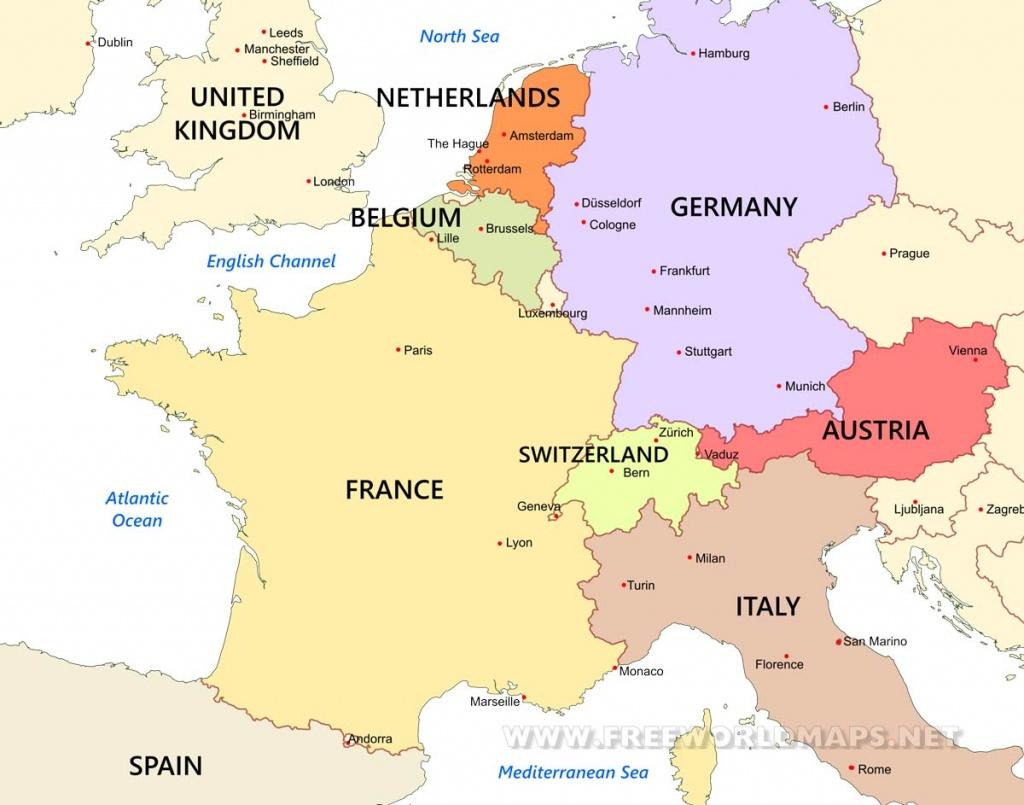 Western Europe Maps -Freeworldmaps - Printable Map Of Western Europe