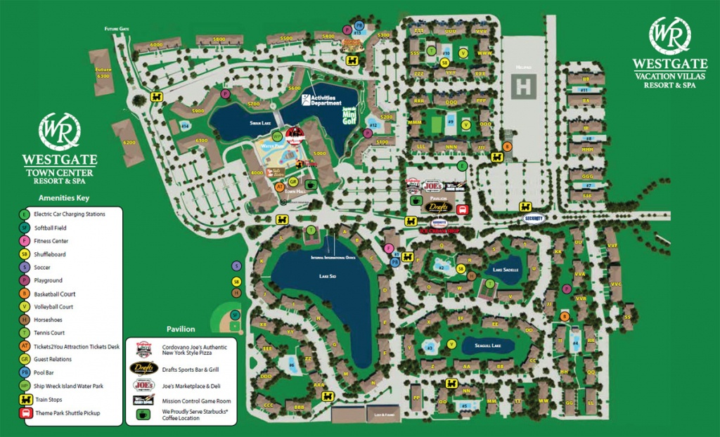 Westgate Town Center Resort Map | Kissimmee Fl - Map Of Hotels In Kissimmee Florida