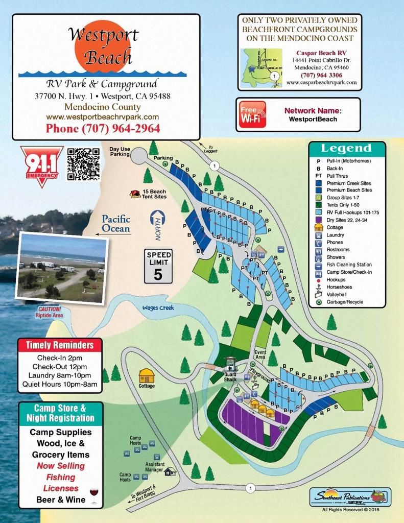 Westport Park Map - California Rv Camping Map