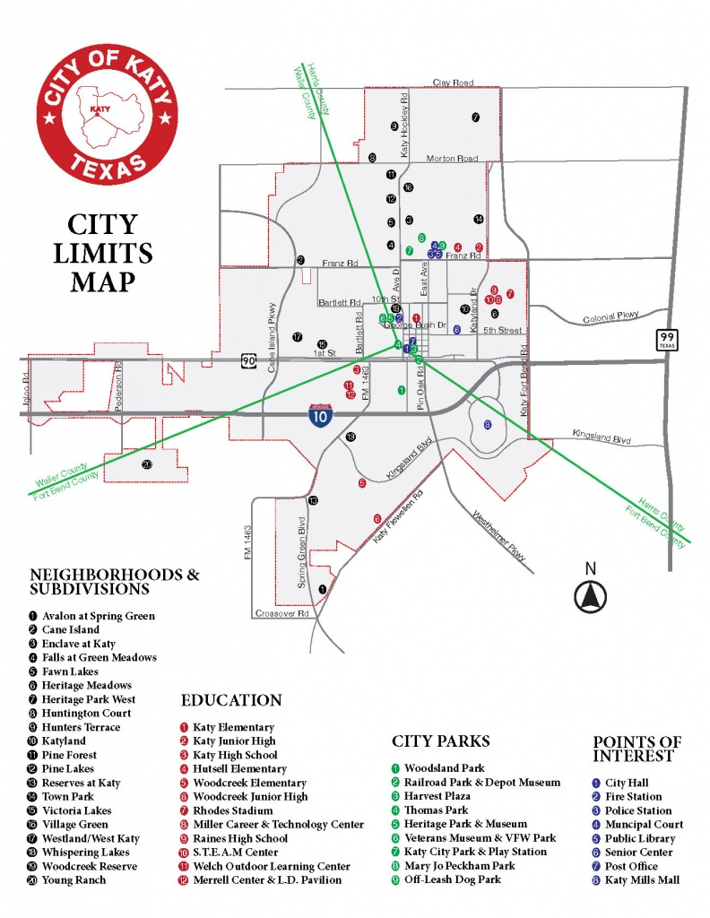 What Are The City Limits Of Katy? | City Of Katy, Tx - Map Of Cinco Ranch Texas