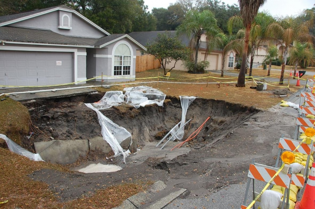 What Causes Sinkholes In Florida? | Interactive Sinkhole Maps - Interactive Sinkhole Map Florida