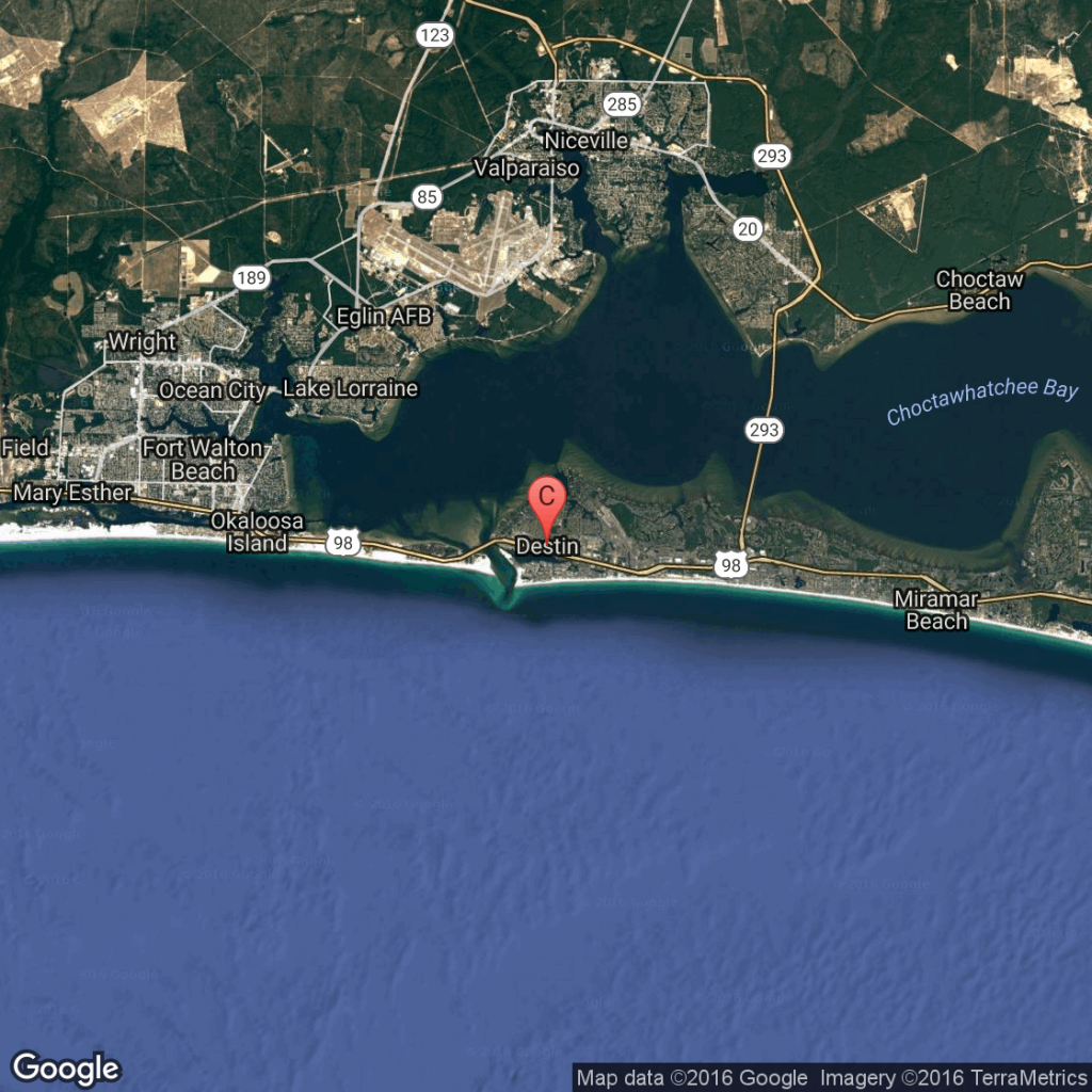 What Is The Closest Major Airport To Destin, Florida?   Getaway Usa - Florida Map Destin Fl