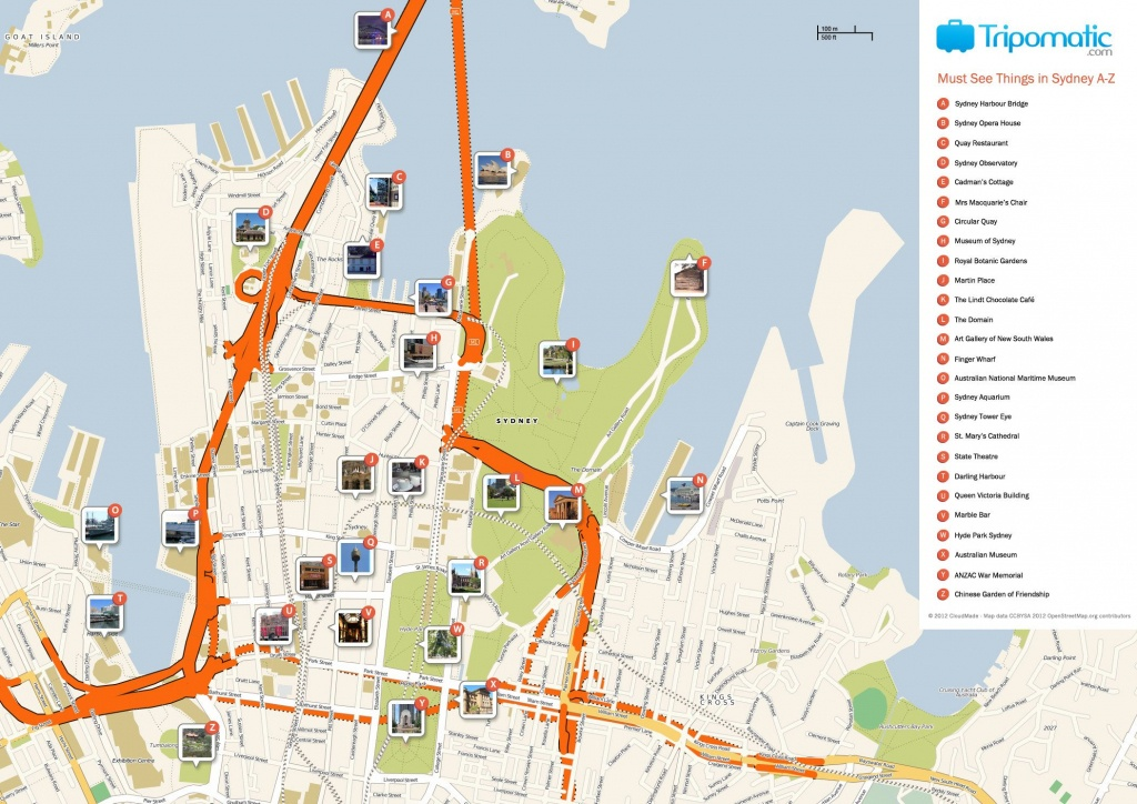 What To See In Sydney | Craft Printables | Sydney Map, Tourist Map - Printable Map Of Sydney