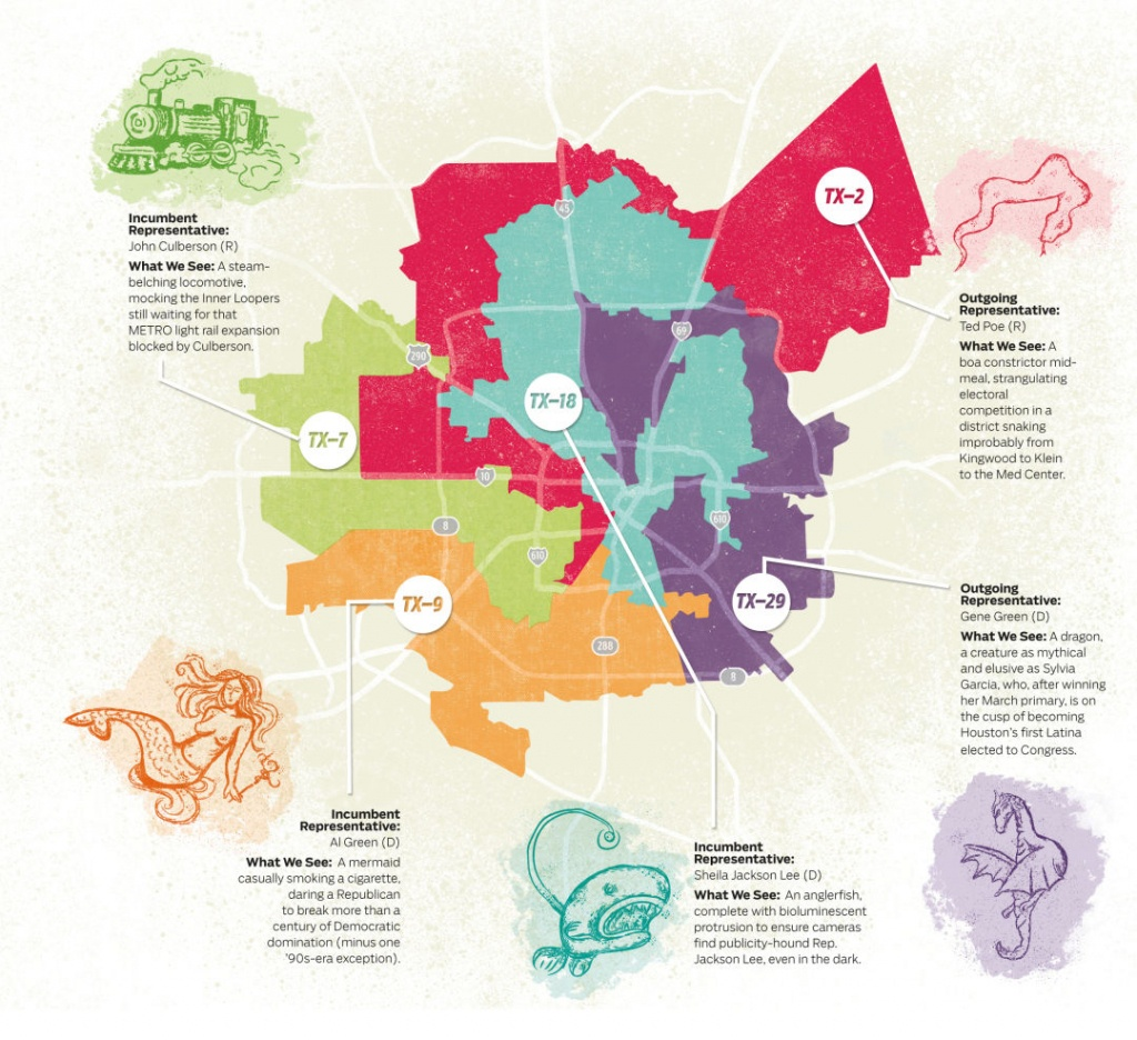 What We See When We Look At Houston's Gerrymandered Congressional - Texas Representatives Map
