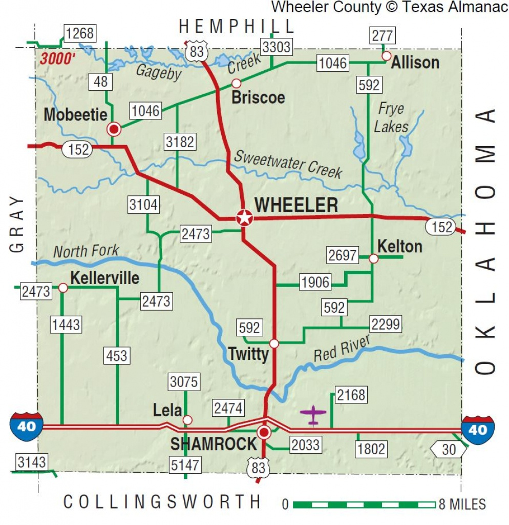 Wheeler County | The Handbook Of Texas Online| Texas State - Pampa Texas Map