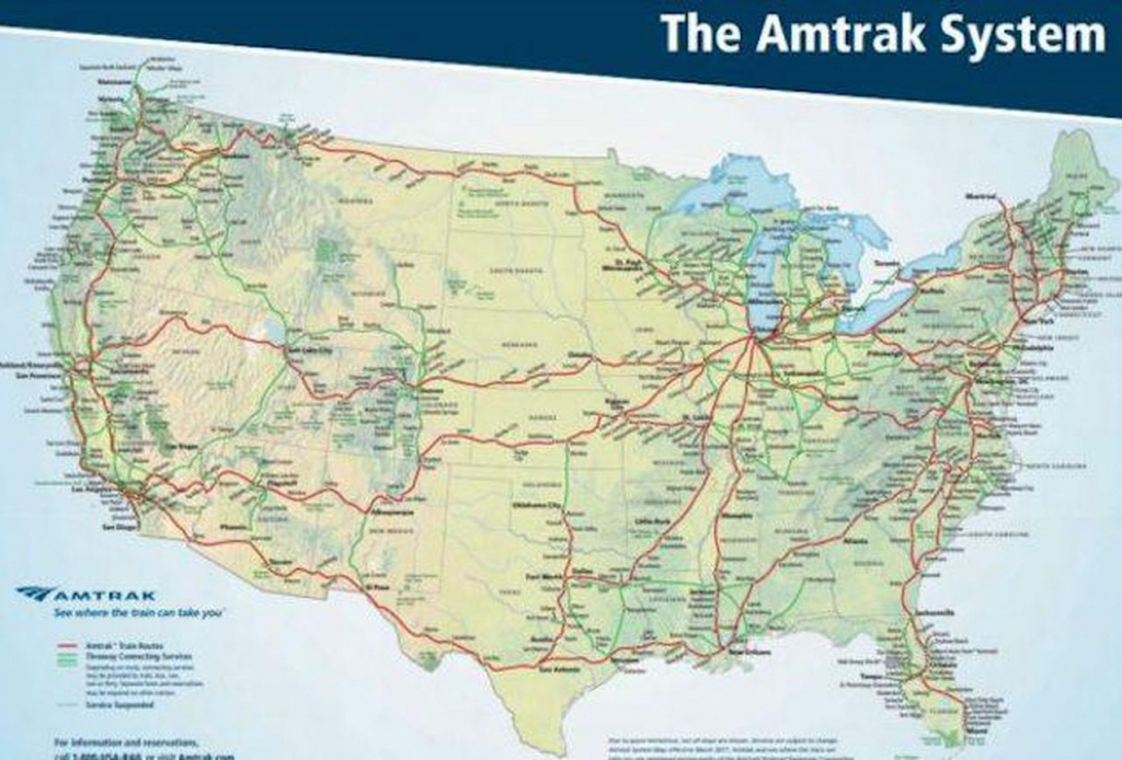 When And Where You Should Traveltrain Domestically - Amtrak Map Southern California