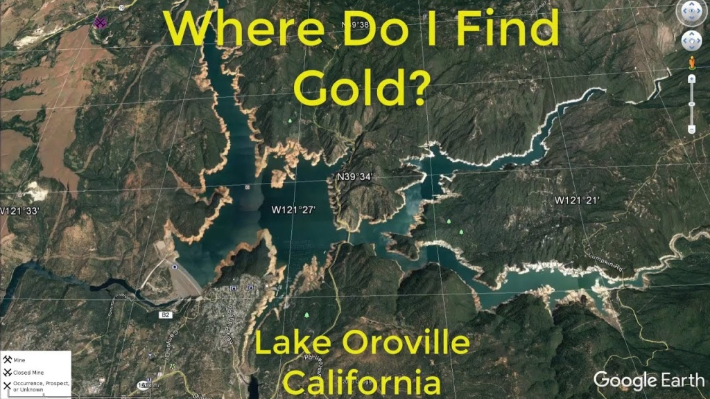 Where Do I Find Gold Around Lake Oroville - Youtube - California Gold Prospecting Map
