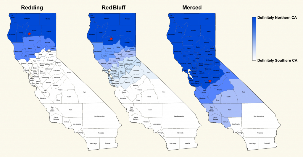Where Exactly Is Northern California? | Nspr - Red Bluff California Map