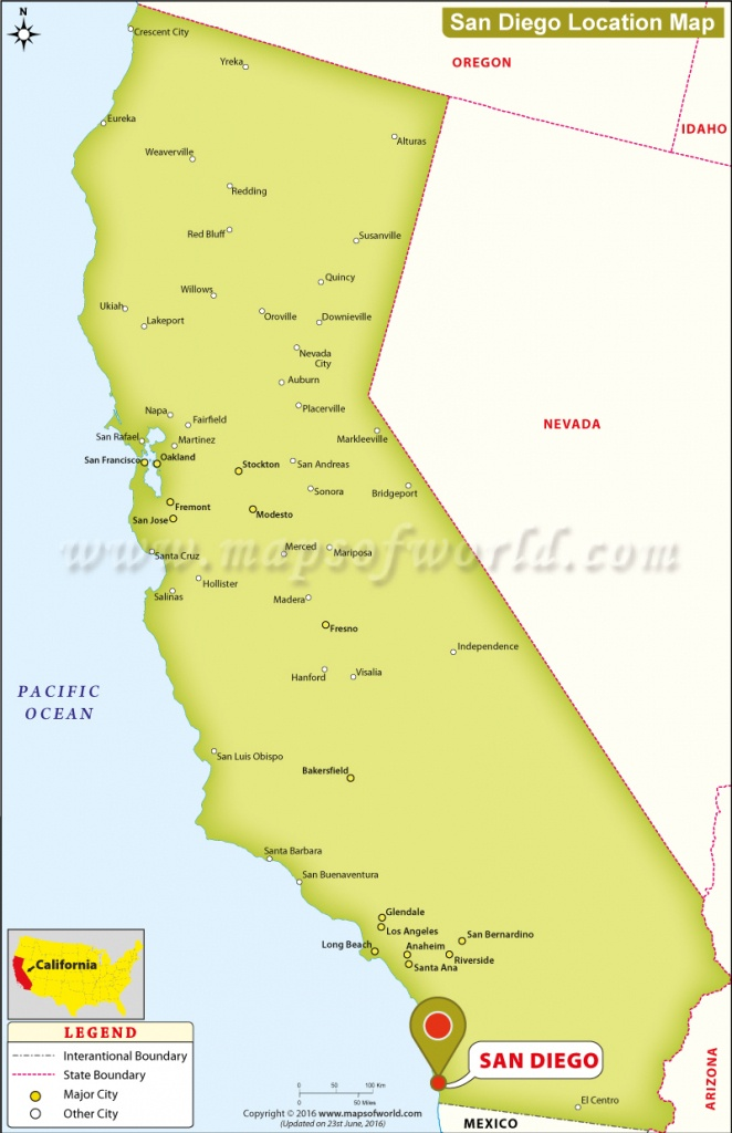 Where Is San Diego Located In California, Usa - Where Is San Diego California On A Map