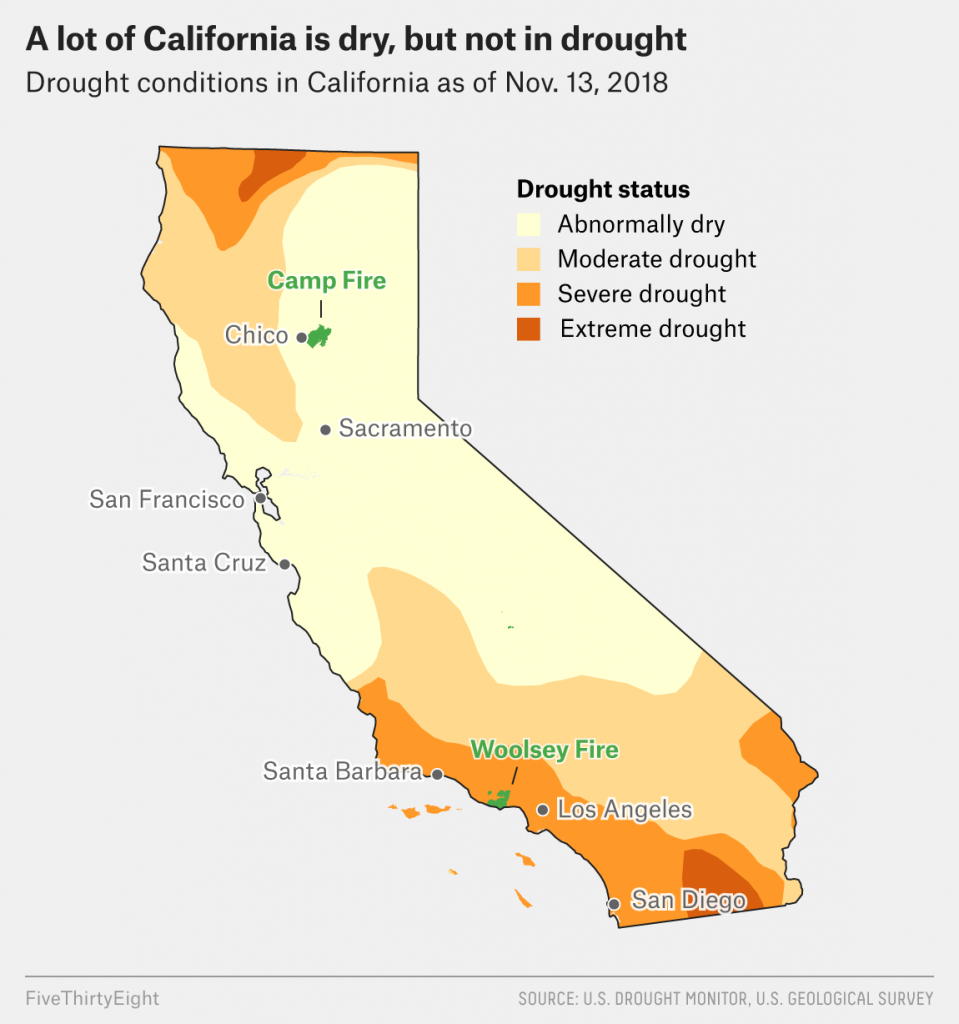 Why California's Wildfires Are So Destructive, In 5 Charts - California Fire Map 2018