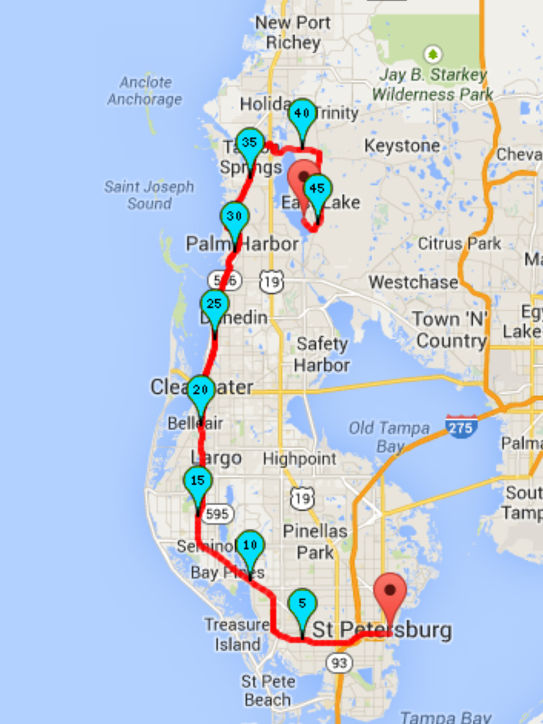 Why I Love Ultras: The 2014 Pinellas Trail Challenge | Dave Krupski - Pinellas Trail Map Florida