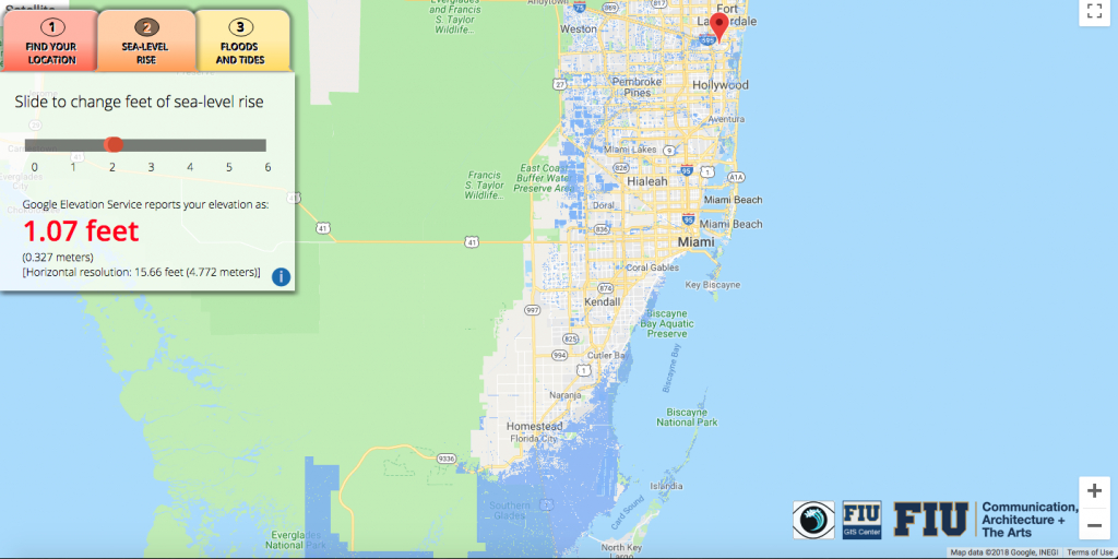 Will Flooding From Sea-Level Rise Impact Your House? This App Lets - Map Of Florida After Sea Level Rise