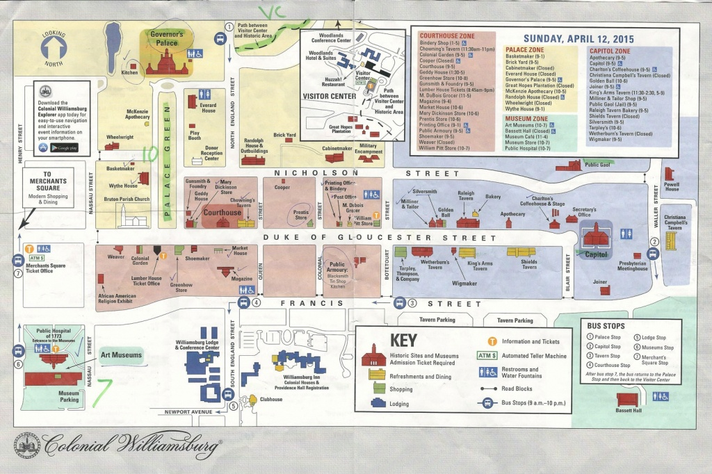 Williamsburg Tourist Map Related Keywords & Suggestions - Colonial Williamsburg Printable Map