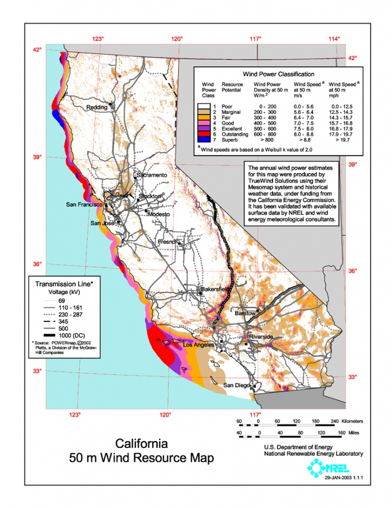 Wind Power In California - Wikipedia - Best Western Locations California Map
