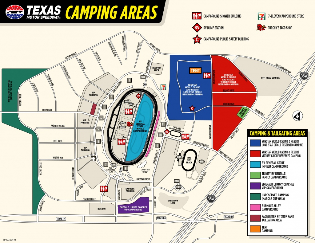 Winstar World Casino And Resort Reserved Camping - Texas Motor Speedway Map