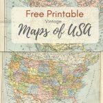 Wonderful Free Printable Vintage Maps To Download | Boys Bedroom   Free Printable Maps