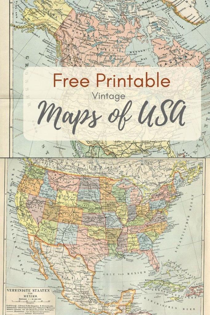 Wonderful Free Printable Vintage Maps To Download | Boys Bedroom - Free Printable Maps