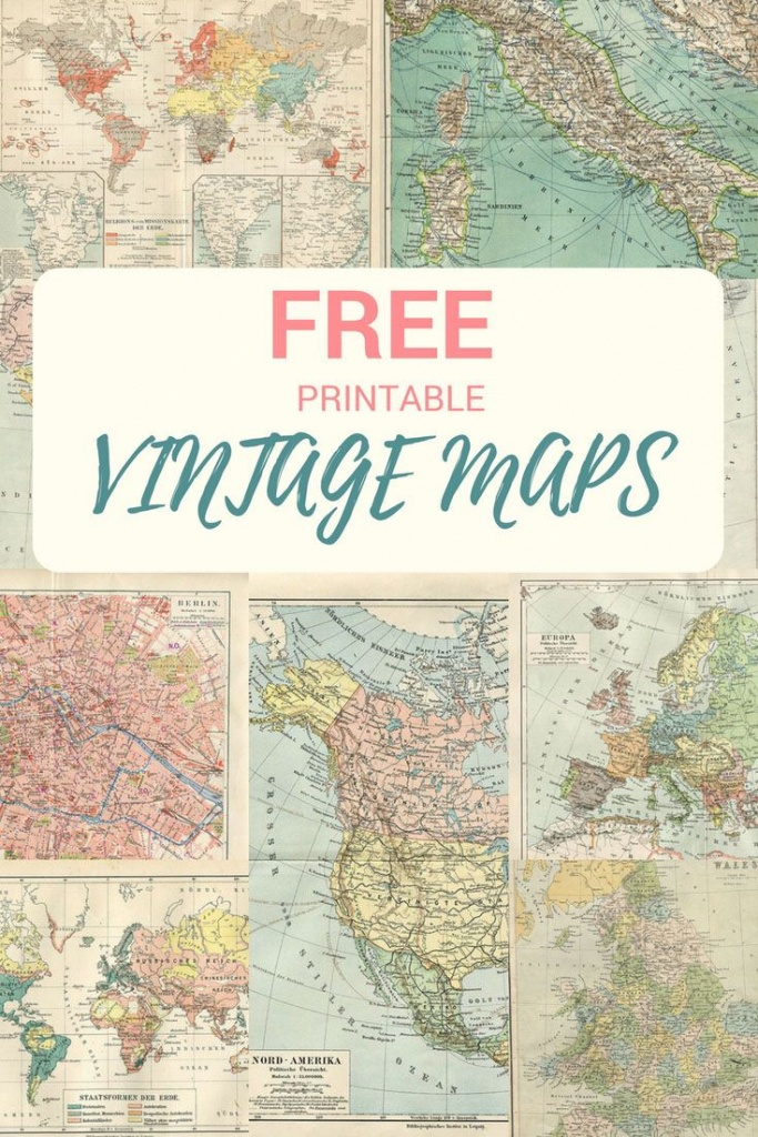 Wonderful Free Printable Vintage Maps To Download | Papercrafts - Printable Map Paper