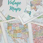 Wonderful Free Printable Vintage Maps To Download   Pillar Box Blue   Free Printable Maps