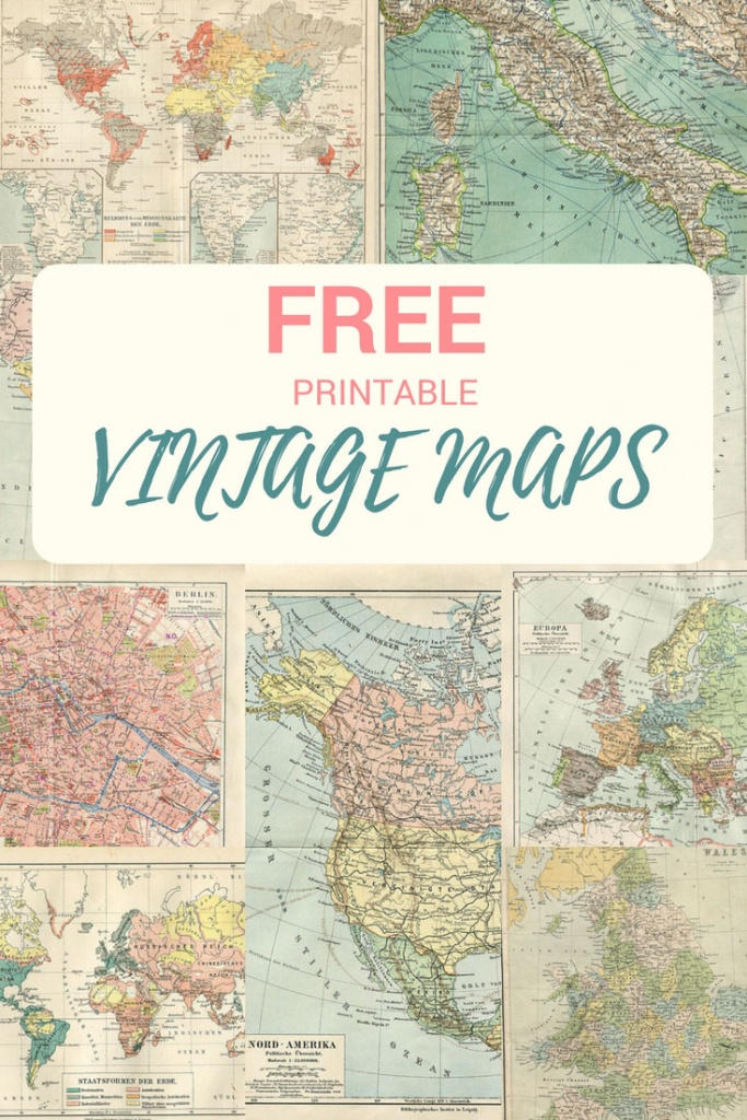 Wonderful Free Printable Vintage Maps To Download - Pillar Box Blue - How To Make A Printable Map
