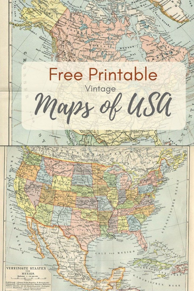 Wonderful Free Printable Vintage Maps To Download | Printables | Map - Free Printable Vintage Maps