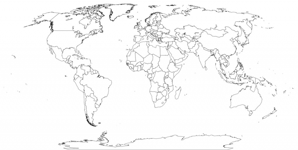 World Map Black And White Worksheet On With Country Names Printable - World Map Printable With Country Names