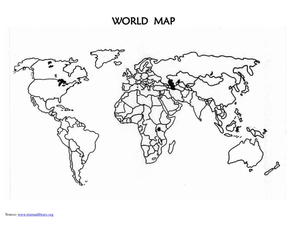 World Map Blank Template - Eymir.mouldings.co - World Map Outline Printable For Kids