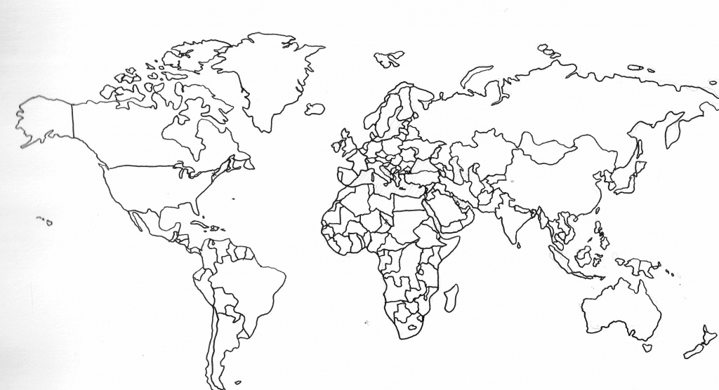 World Map Coloring Sheet 8092 Best Of Printable With Countries | Pc - Printable Blank World Map With Countries