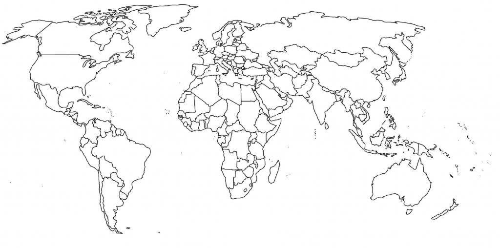 World Map Countries Fill In New Blank With Border Printable Africa - Printable World Map With Countries