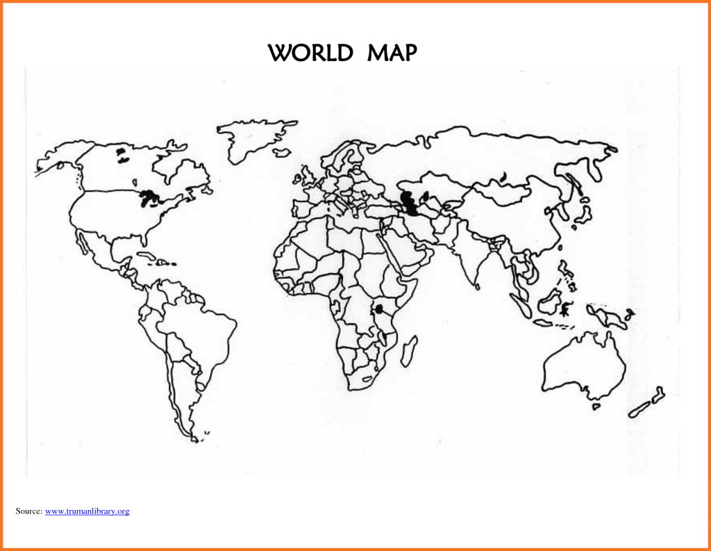 World Map Outline Printable For Kids And Travel Information - Printable Blank World Map For Kids