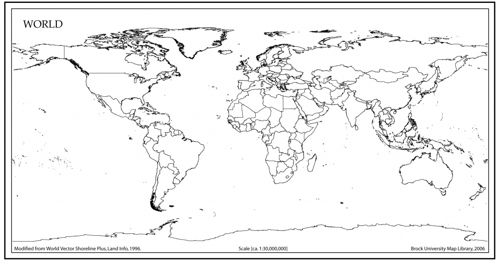 World Map Outline With Countries | World Map | Blank World Map, Map - Blackline World Map Printable Free