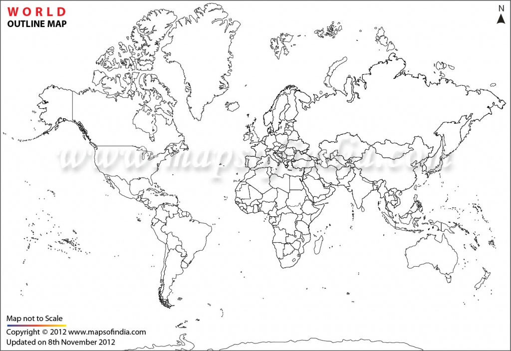 World Map Printable, Printable World Maps In Different Sizes - Blank Physical World Map Printable