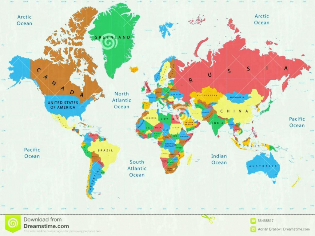 World Map Simple Labeled | Sitedesignco - Large Printable World Map Labeled