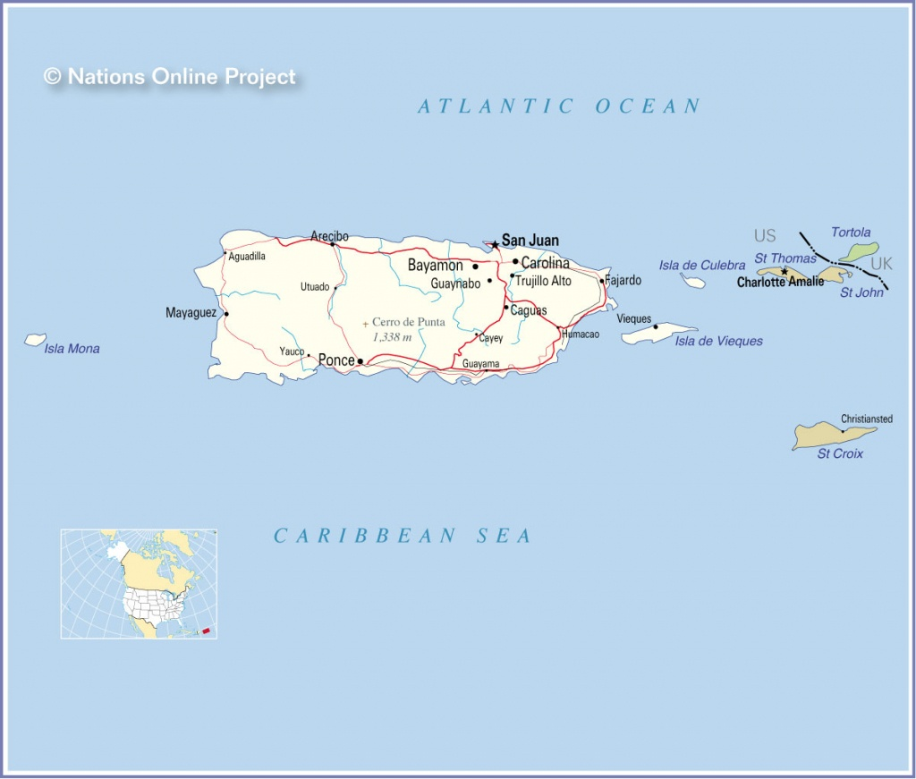 World Maps Puerto Rico And Travel Information | Download Free World - Printable Map Of Puerto Rico For Kids