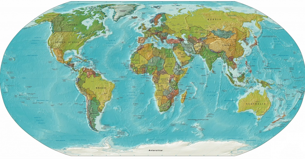 World Relief Map, Printable World Relief Map, World Physical Map - World Physical Map Printable