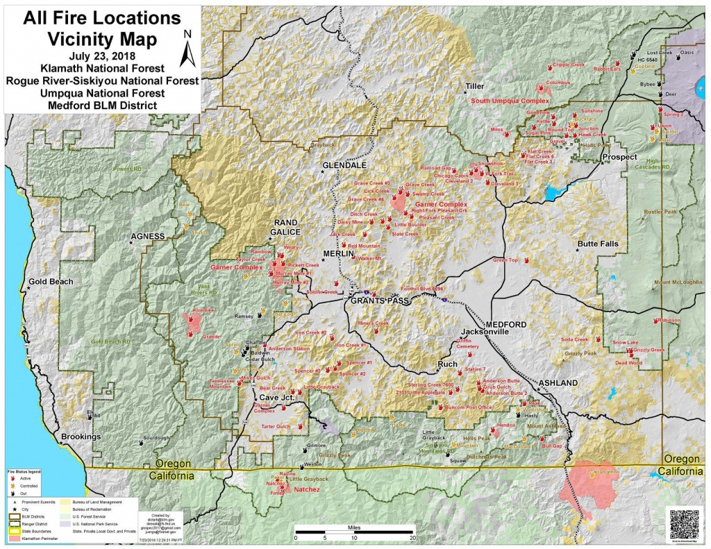 Worth A Thousand Words Or More: Southern Oregon Fire Map | Jefferson - Oregon California Fire Map