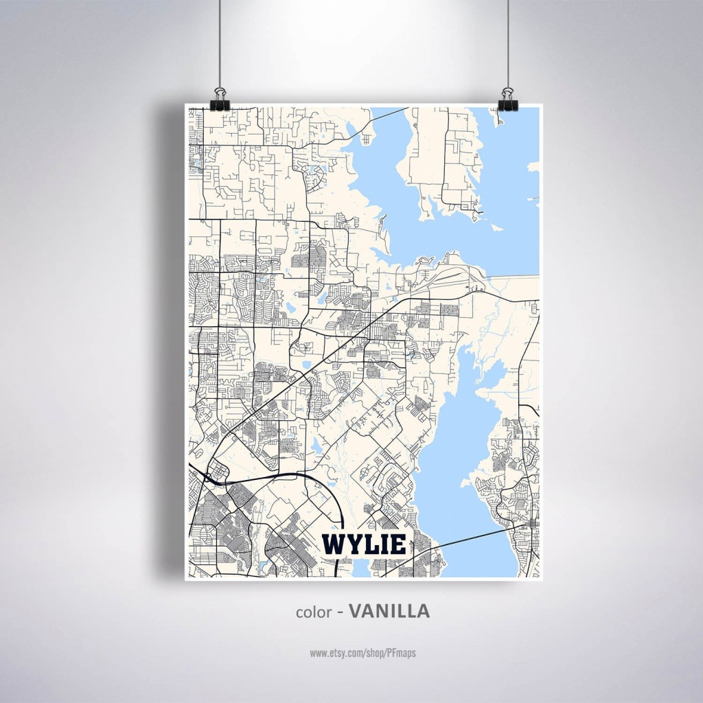 Wylie Map Print Wylie City Map Texas Tx Usa Map Poster | Etsy - Wylie Texas Map