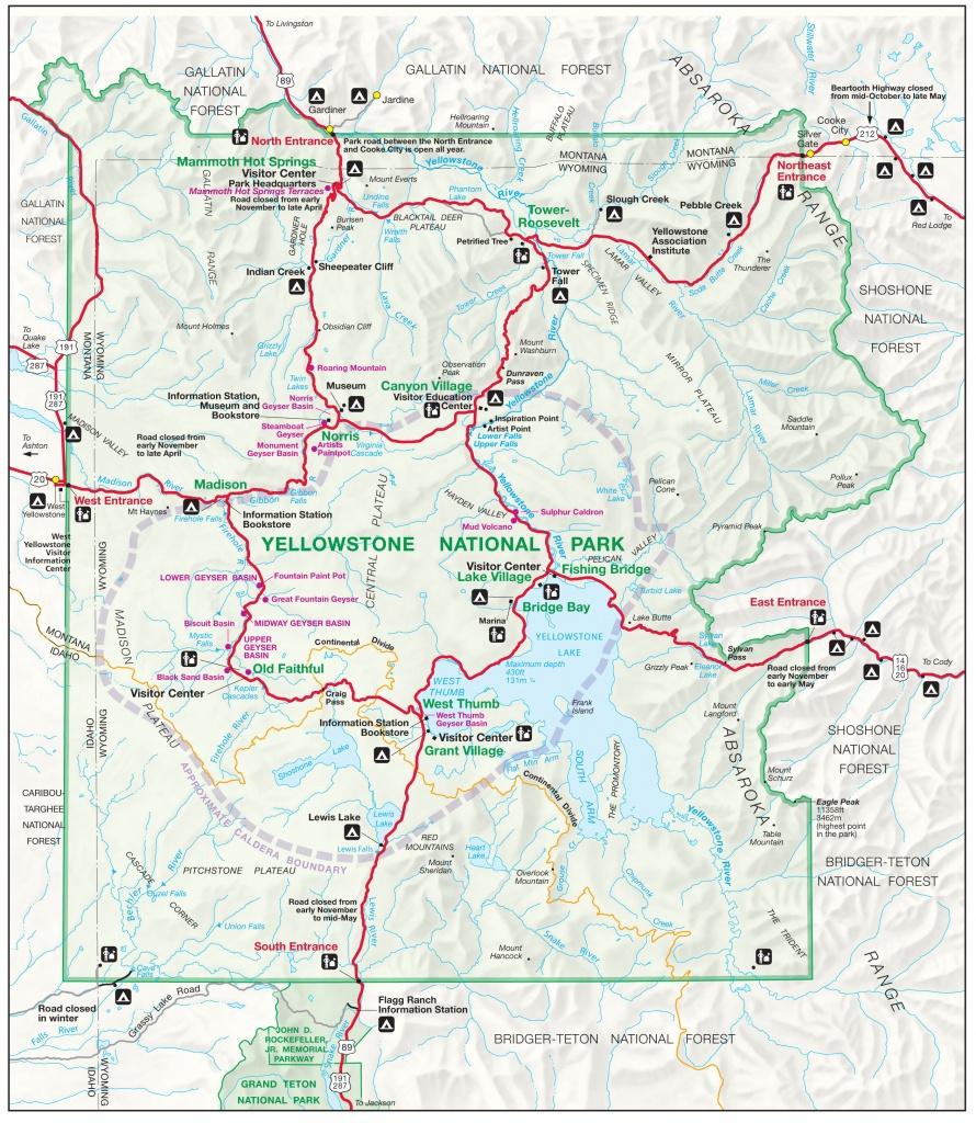 Yellowstone Map   Yellowstone Maps - Printable Map Of Yellowstone
