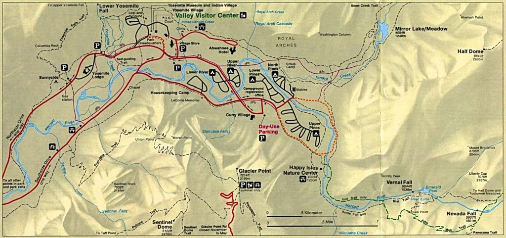 Yosemite Historic Maps (Yosemite Library Online) - Yosemite National Park California Map