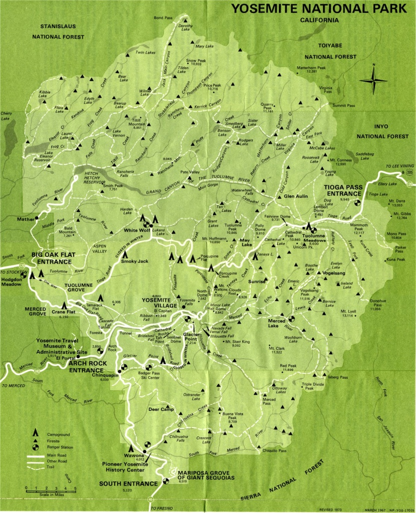 Yosemite National Park Map Detail Map Of Yosemite On California Map - Yosemite National Park California Map
