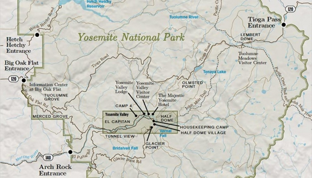 Yosemite National Park Overview Map - My Yosemite Park - Yosemite California Map