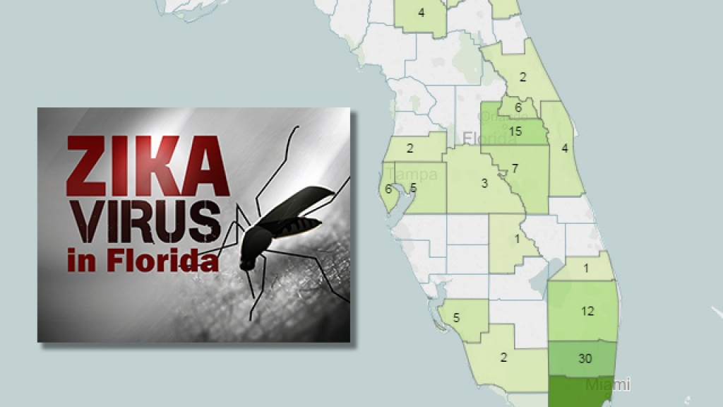 Zika Tracker: Interactive Map And Graphic Show Confirmed And Locally - Zika Florida Map