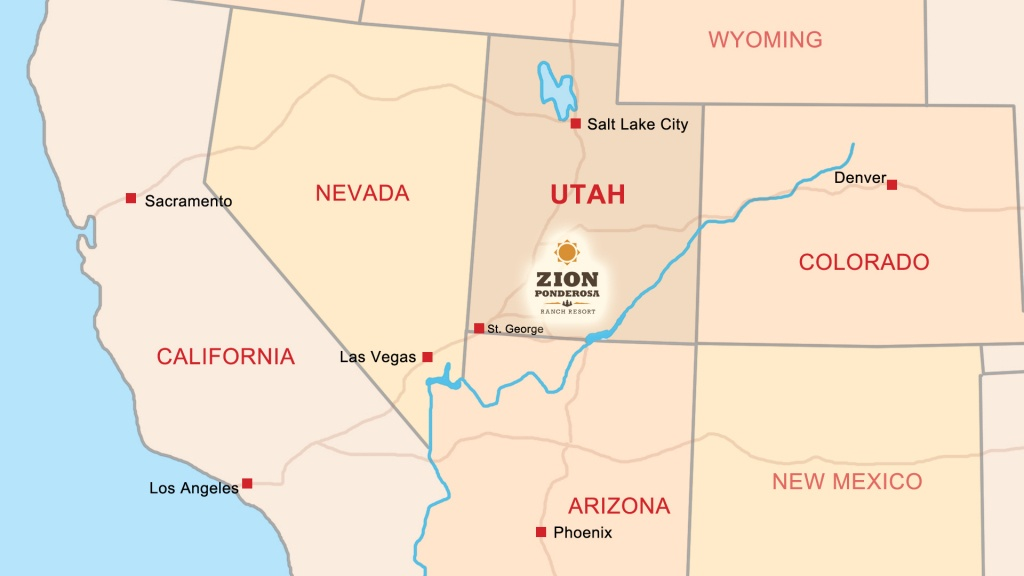 Zion Ponderosa Ranch Resort Location   Directions & Map - California State Parks Camping Map
