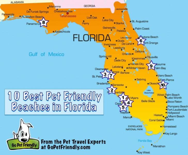 Map Florida Gulf Coast Beaches