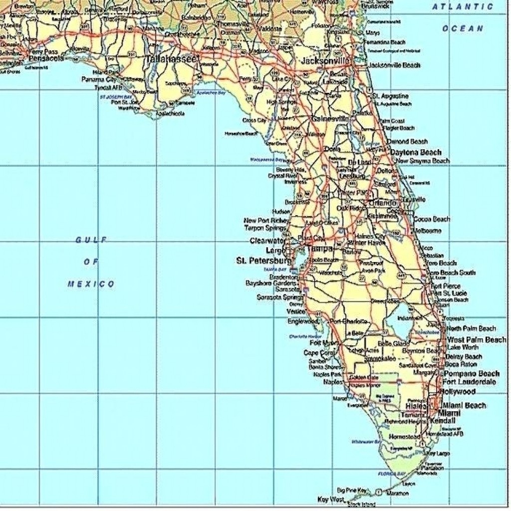 Florida Gulf Coast Map With Cities And Travel Information