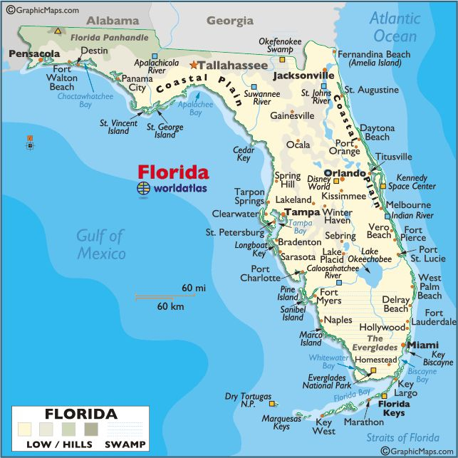 Florida Maps Facts Map Of Florida Beaches Map Of