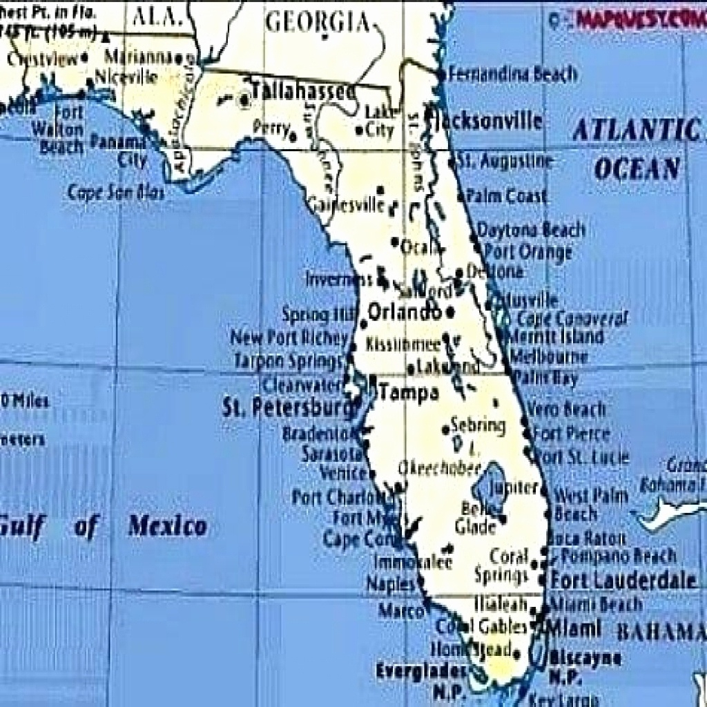 Map Of Beaches On The Gulf Side Of Florida Printable Maps