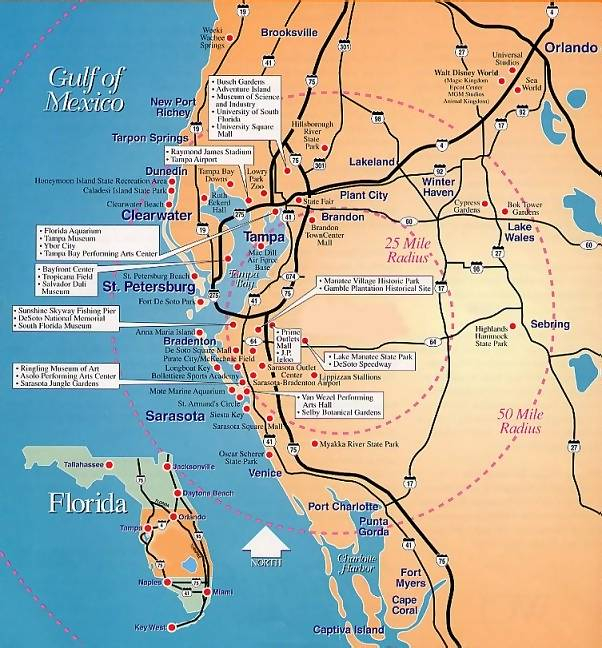 Map Of Florida Gulf Coast Cities Campus Map