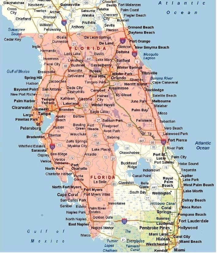 Map Of Florida West Coast Of Delightfully Different
